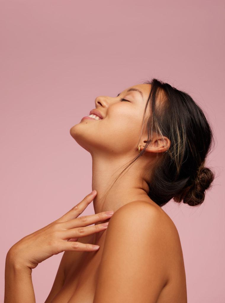 skin elasticity woman smile skincare numelab switerland