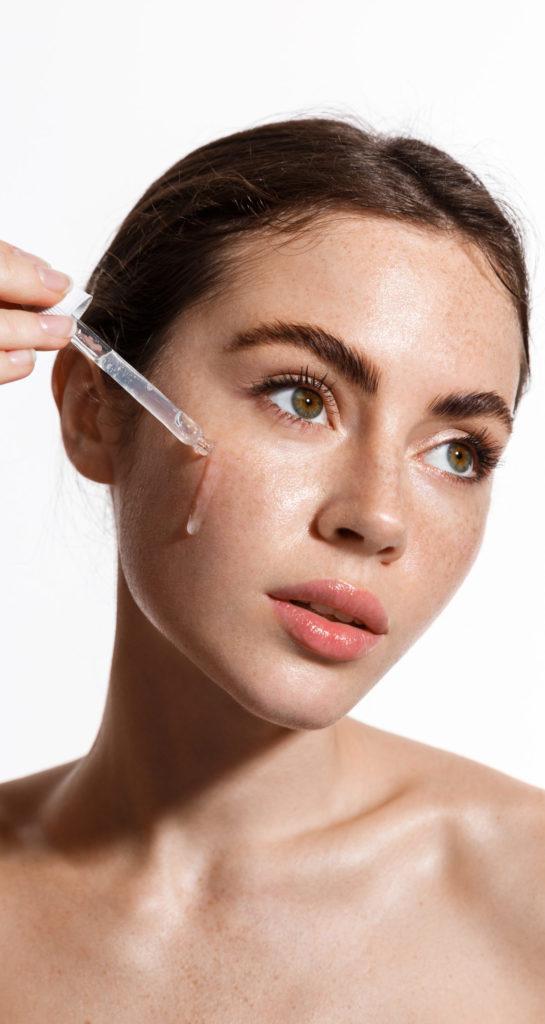 brightening skincare numelab switzerland woman serum