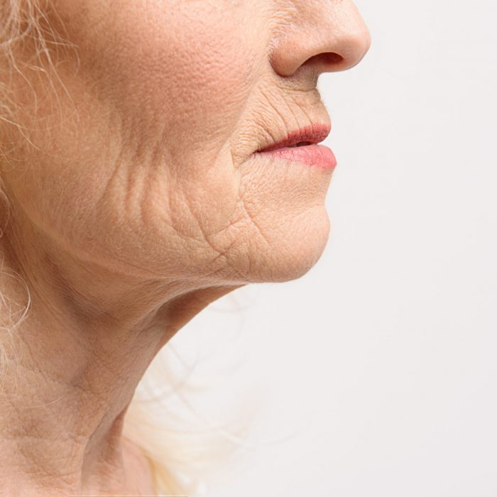 Skin of mature female skincare numelab